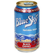 Blue Sky Natural Soda Black Cheery